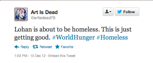 #worldhunger shallow tweet